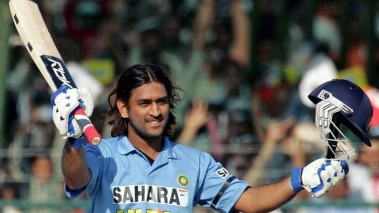 MS Dhoni en-route his career-best 183 against Sri Lanka in 2005. Image Credits: India Today