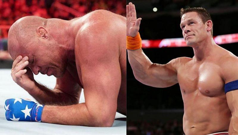 Kurt Angle and John Cena in WWE