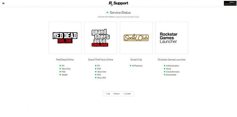 Rockstar service status