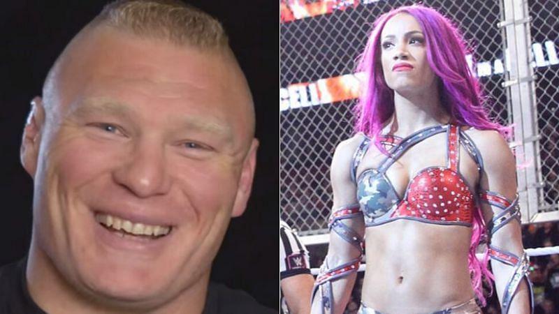 Brock Lesnar and Sasha Banks