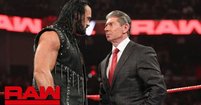Drew McIntyre and the WWE Chairman Vince McMahon