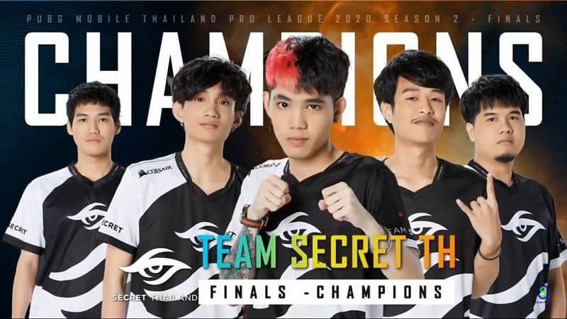 Team Secret TH, winners of the PMPL Season 2 Thailand Grand Finals