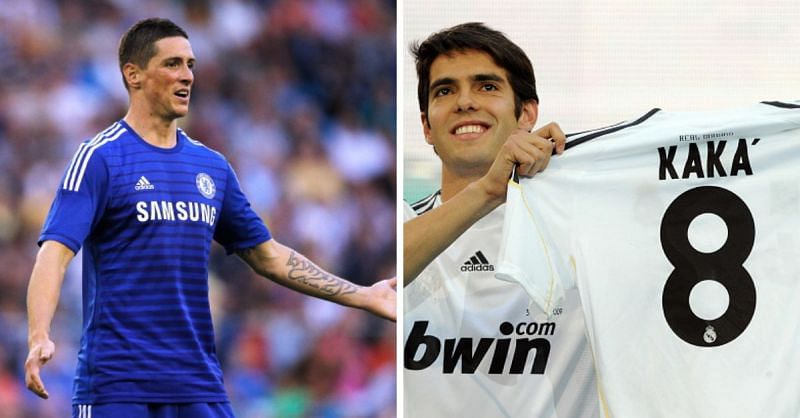 Kaka and Torres did not have the best of times at Real Madrid and Chelsea respectively
