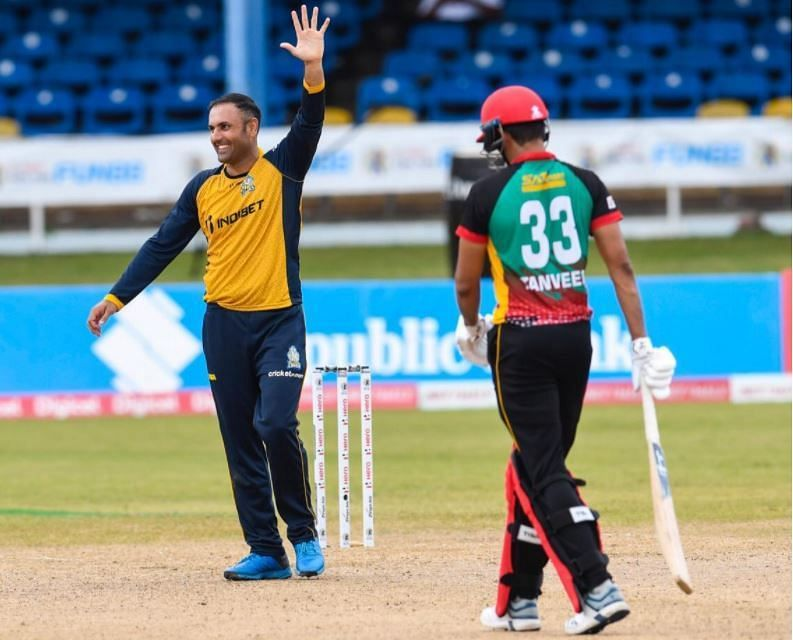 Mohammad Nabi in action for the St Lucia Zouks