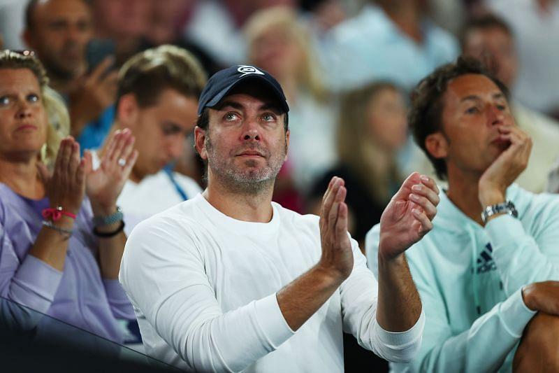 Nicolas Massu cheers Dominic Thiem at the 2020 Australian Open