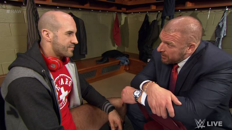 Cesaro and Triple H
