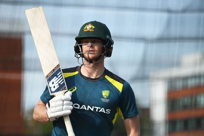Steve Smith suffered a blow to the head in the nets in England