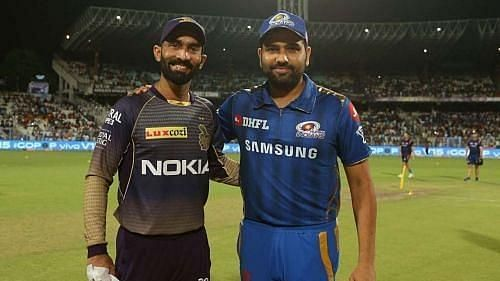 Dinesh Karthik and Rohit Sharma will lead their teams out in game 5 of IPL 2020