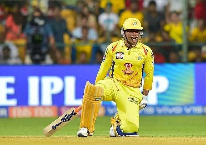 MS Dhoni came into bat with less than 7 overs to go in the Chennai Super Kings