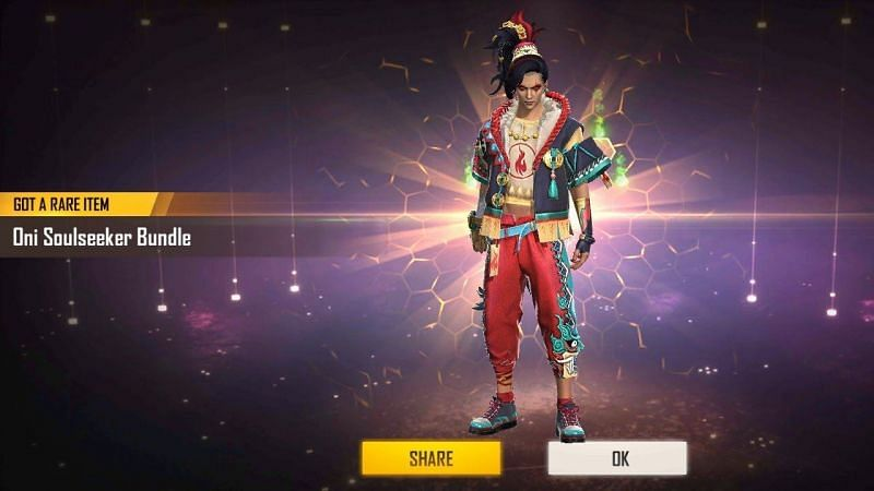 Oni Soulseeker bundle can be obtained in Diamond Royale Free Fire (Image Credit: Ajaz/YT)