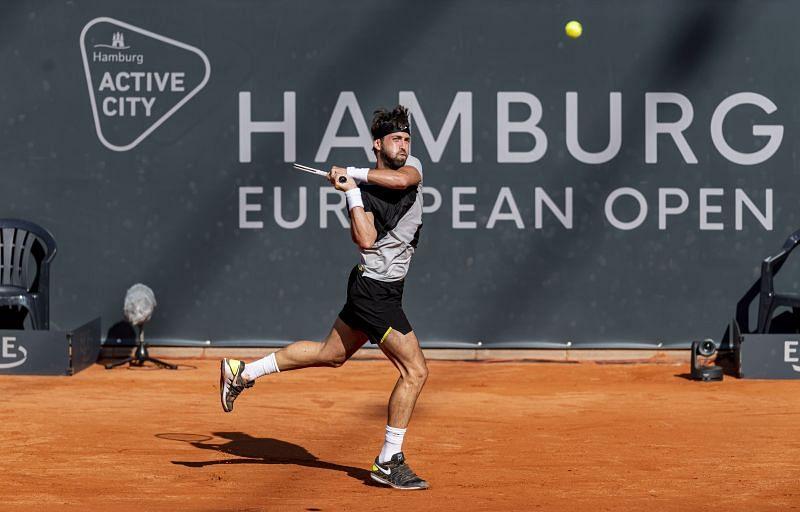Nikoloz Basilashvili at the Hamburg Open.