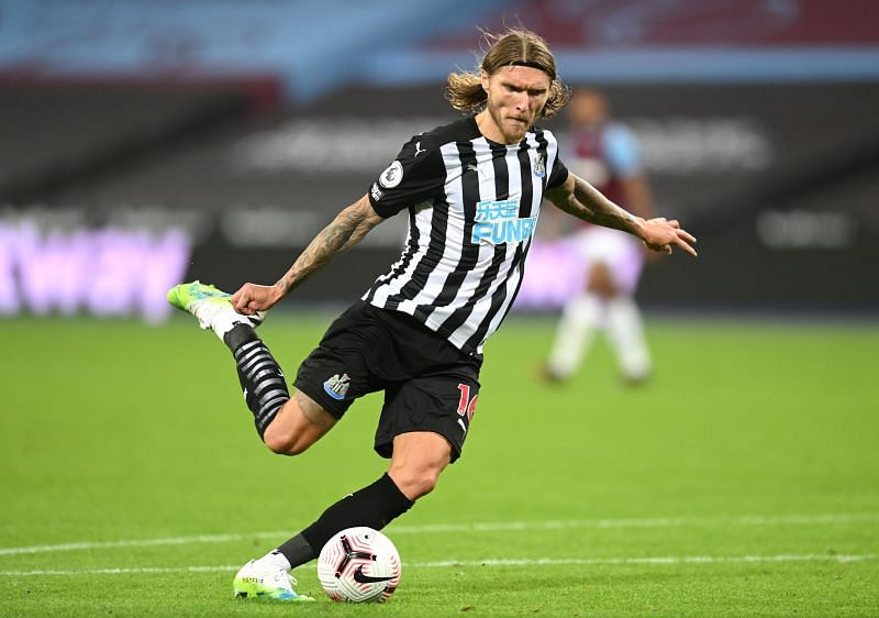 Hendrick got off the mark for Newcastle United in his first game for the club