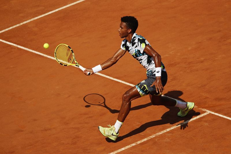 Felix Auger-Aliassime at the Italian Open in Rome last week.