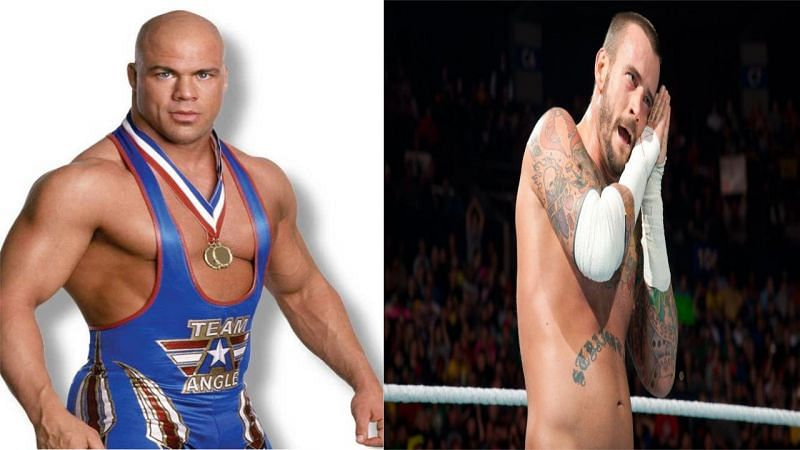 Kurt Angle left the WWE in 2006 which was the same year CM Punk debuted on the main roster.