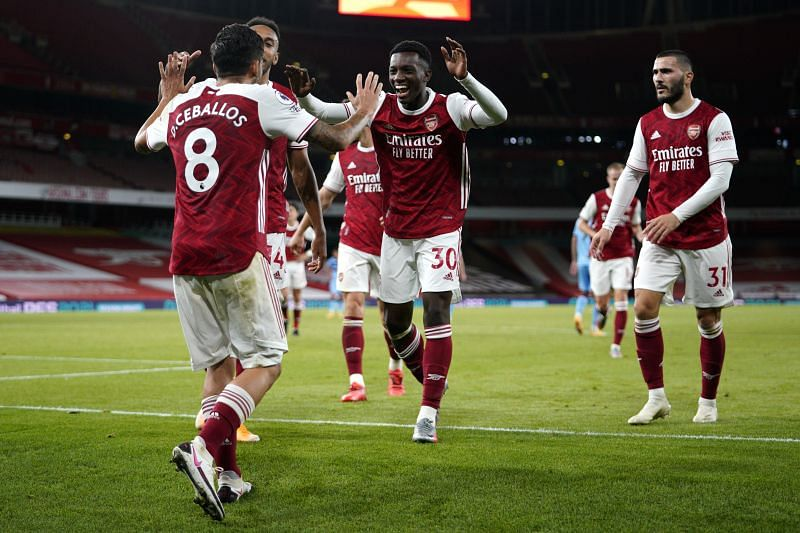 Arsenal secured a 2-1 win over West Ham United on Saturday evening