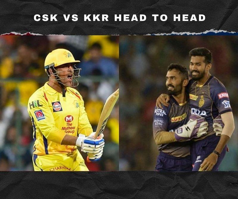 CSK vs KKR Head to Head