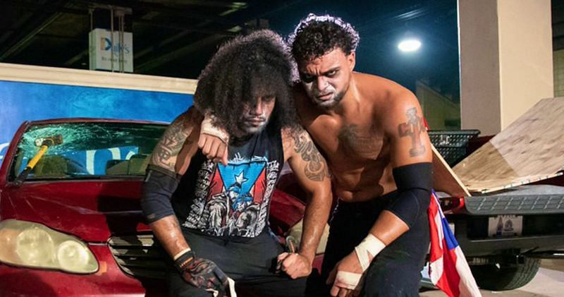 The Best Friends defeated Santana & Ortiz in a Parking Lot Fight on AEW Dynamite this week