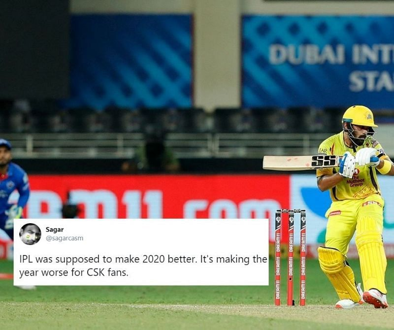 CSK fell to a 44-run defeat to DC in their 3rd IPL 2020 game