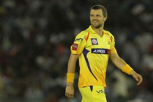 The left-arm fast bowler was part of CSK