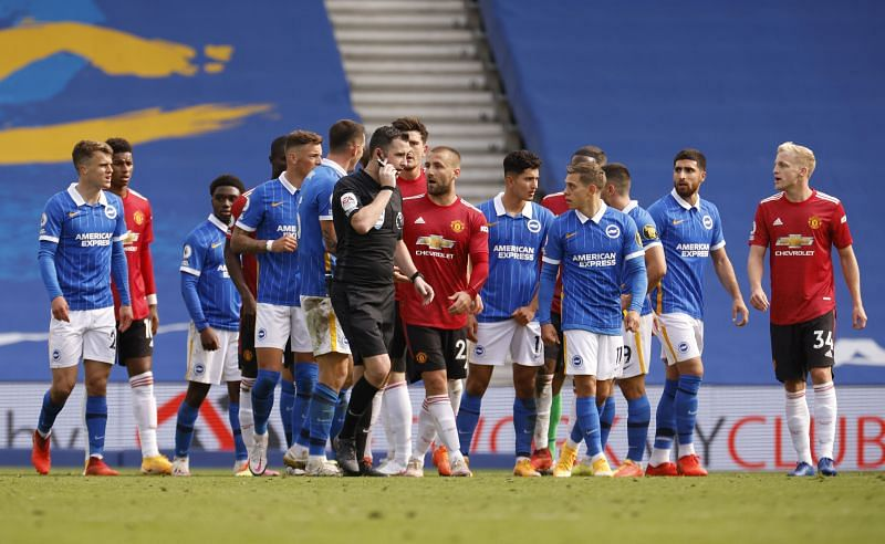 Brighton & Hove Albion will face Manchester United on Thursday