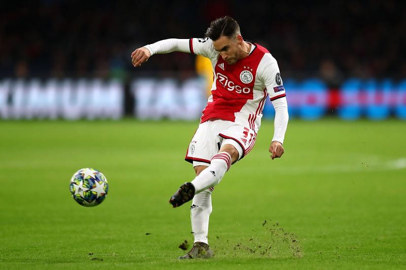 Nicolas Tagliafico of Ajax in action during the UEFA Champions League.