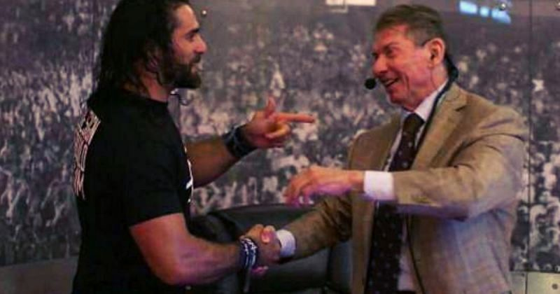 Seth Rollins and Vince McMahon.