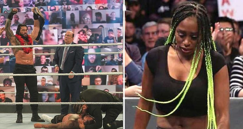 Naomi reacts to the main event