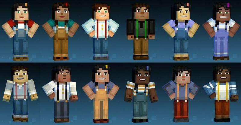 Jesse Variations (Image credits: Minecraft Story Mode Wiki)