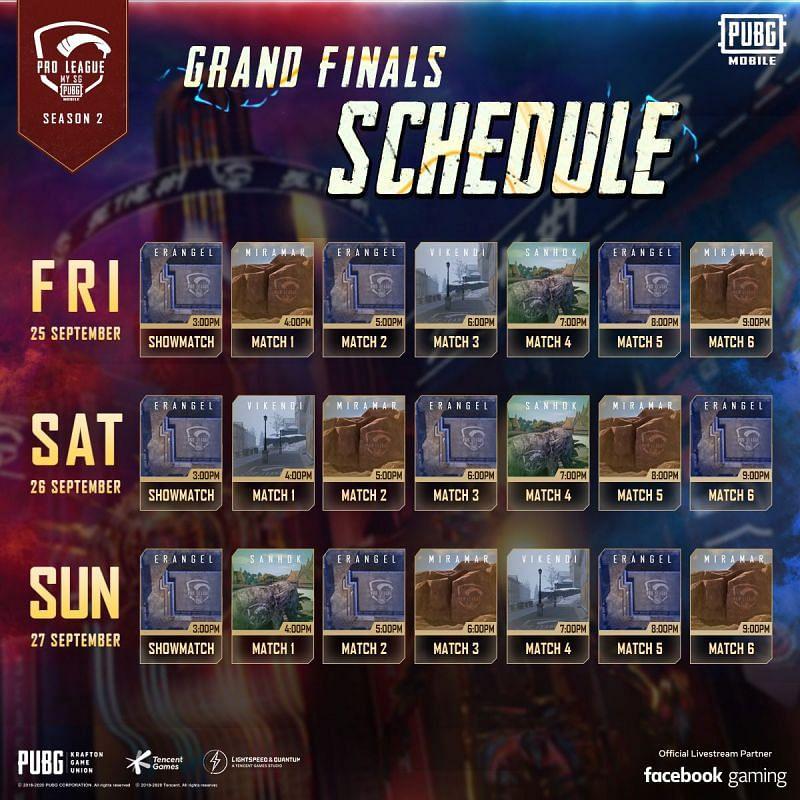PMPL S2 MY/SG Grand Finals Schedule