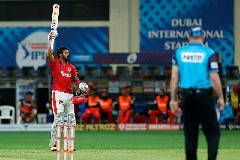 KL Rahul is the first centurion of IPL 2020. (Image Credits - IPLT20)