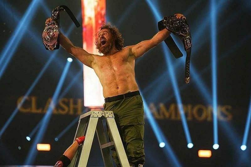 Sami Zayn became the WWE Undisputed Intercontinental Champion at Clash of Champions by defeating Jeff Hardy and AJ Styles