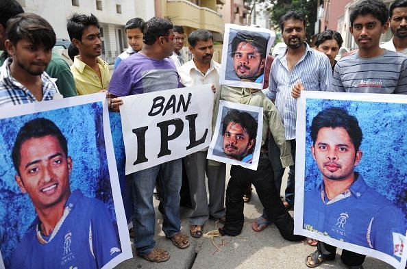 Sreesanth, Ankeet Chavan and Ajit Chandila were arrested immediately, but were later acquitted of the charges by the Patiala House Courts. Image Credits: Sportskeeda