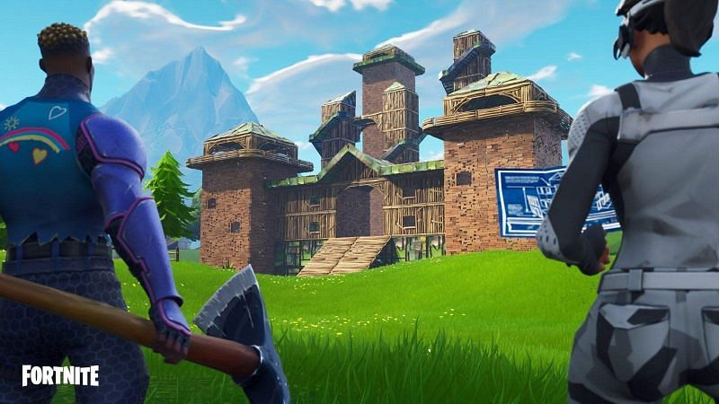 Materials can be farmed on any part of the map as a part of Fortnite (Image Credit: Daily Esports)