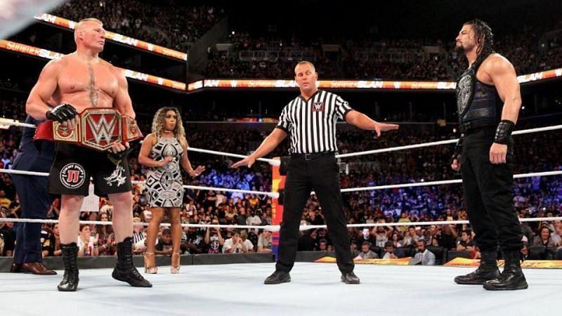 WWE के दो सबसे बड़े दिग्गज सुपरस्टार्स रोमन रेंस और ब्रॉक लैसनर