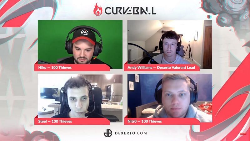 100Thieves in the debut episode of the Curveball (image credits: Dexerto)
