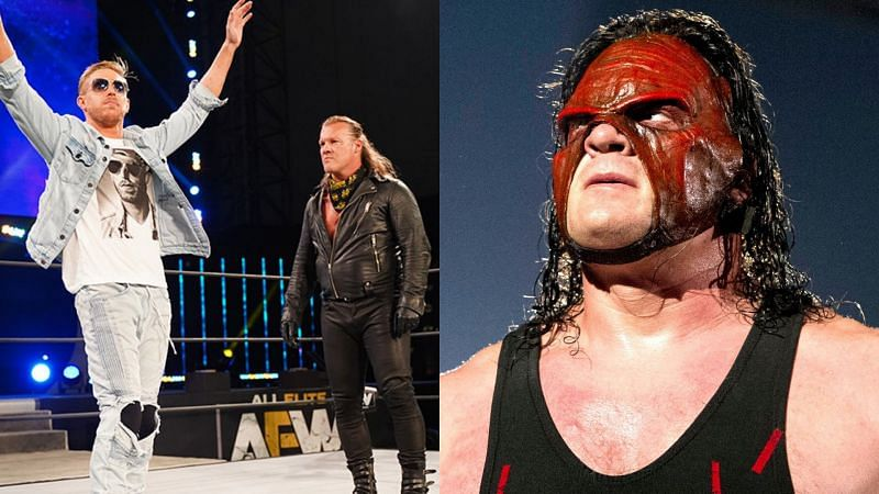 Orange Cassidy, Chris Jericho, and Kane.