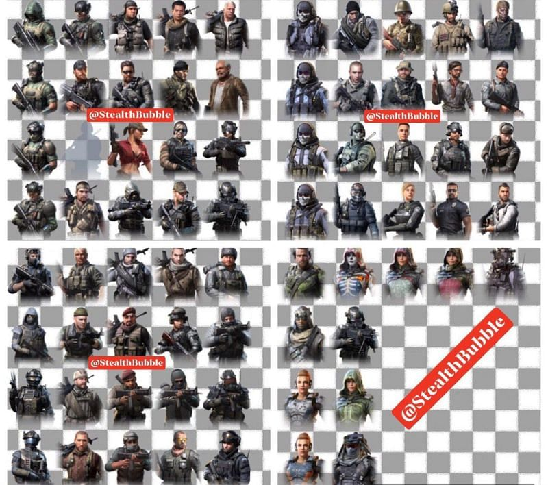 Characters in COD (Image Credits: Tactics For Winners)
