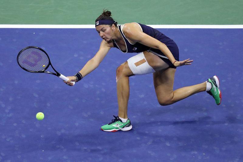 Margarita Gasparyan at the 2020 US Open.