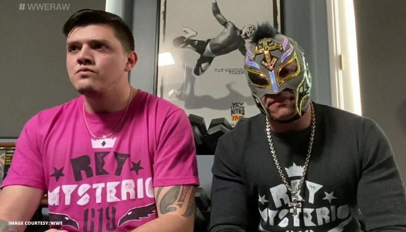Rey Mysterio and Dominik