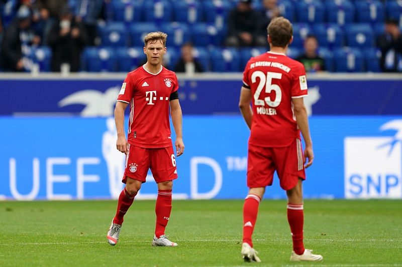 Joshua Kimmich looks disappointed as his team concedes the second goal