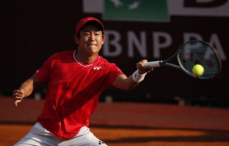 Yoshihito Nishioka at the Internazionali BNL D