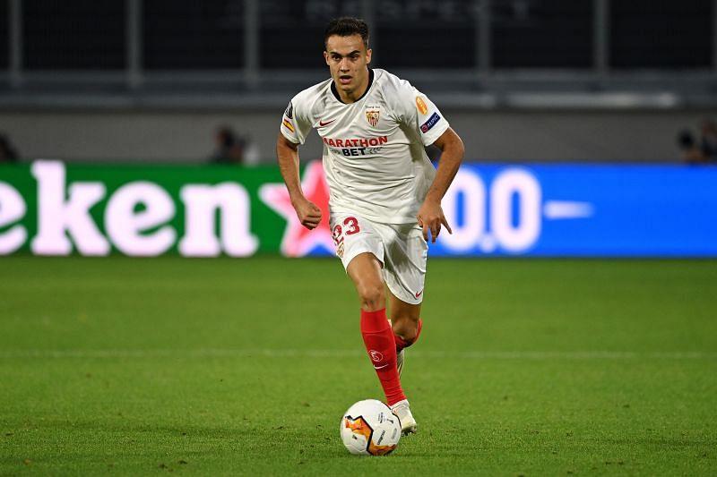 Sergio Reguilon impressed for Sevilla against Manchester United in the UEFA Europa League semi-final