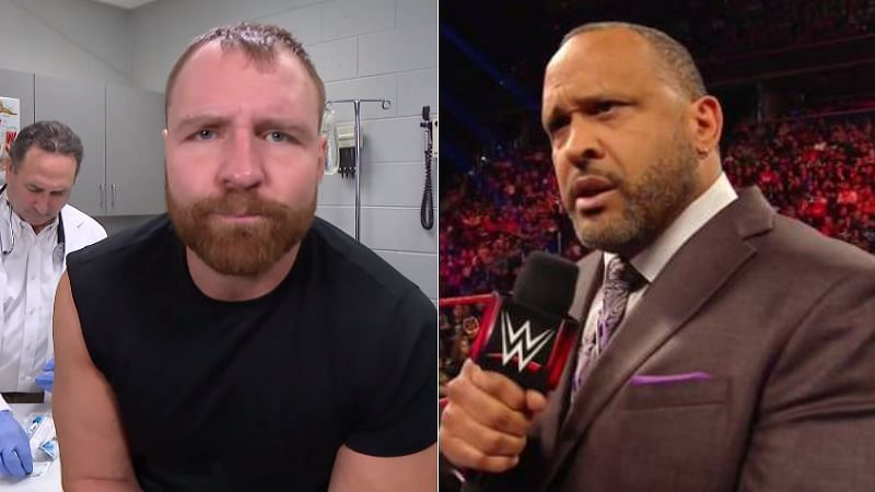 Dean Ambrose (left); MVP (right)