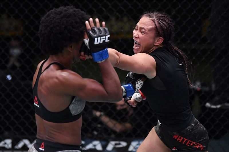 Michelle Waterson edged out Angela Hill in last night