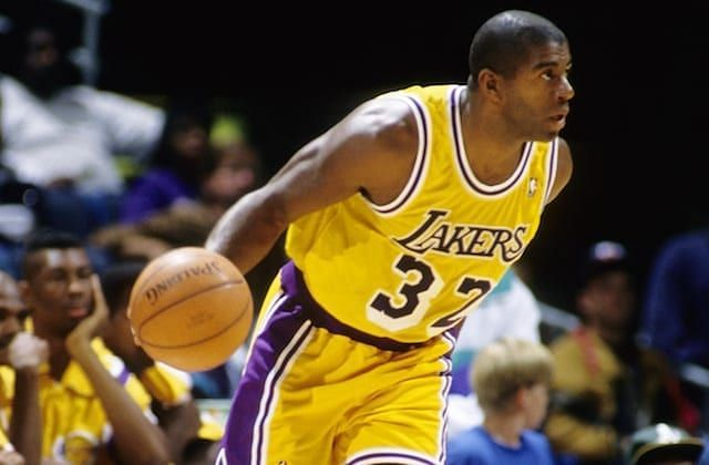 Magic Johnson in Purple and Gold [Credits: Lakers Nation]