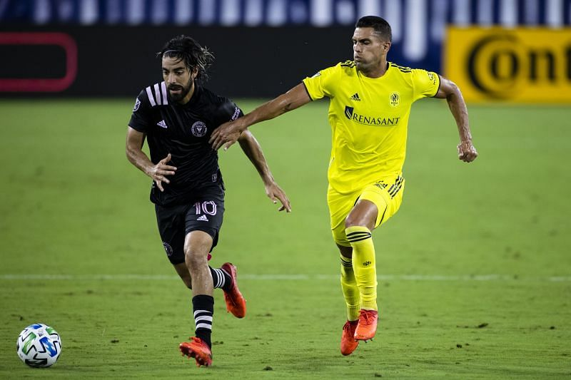 Daniel Rios (right) has been in good form for Nashville SC