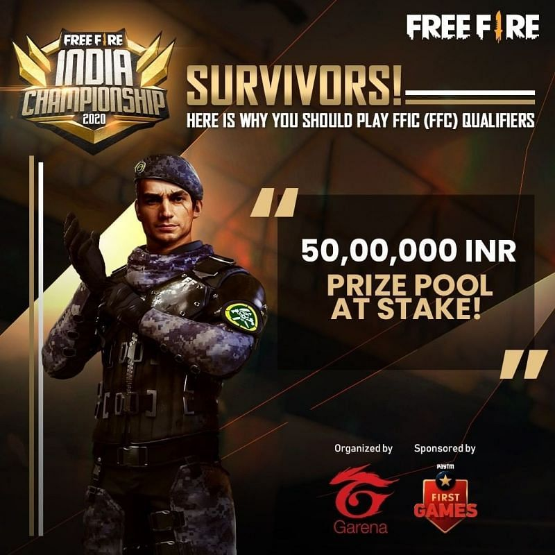 Free Fire India Championship 2020 prize pool announcement