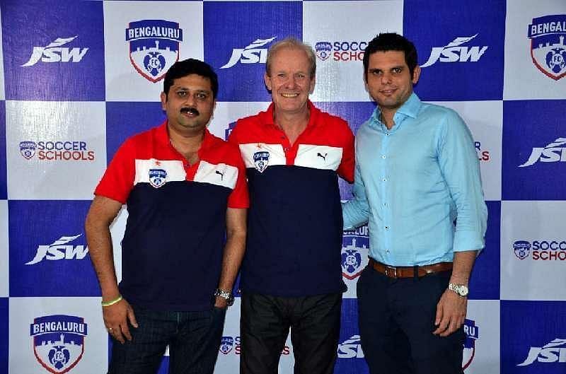 Mandar Tamhane (left) with John Kila (center) and Mustafa Ghouse (right).