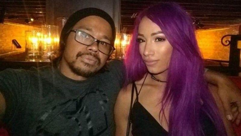 Sasha Banks with her husband Sarath Ton.