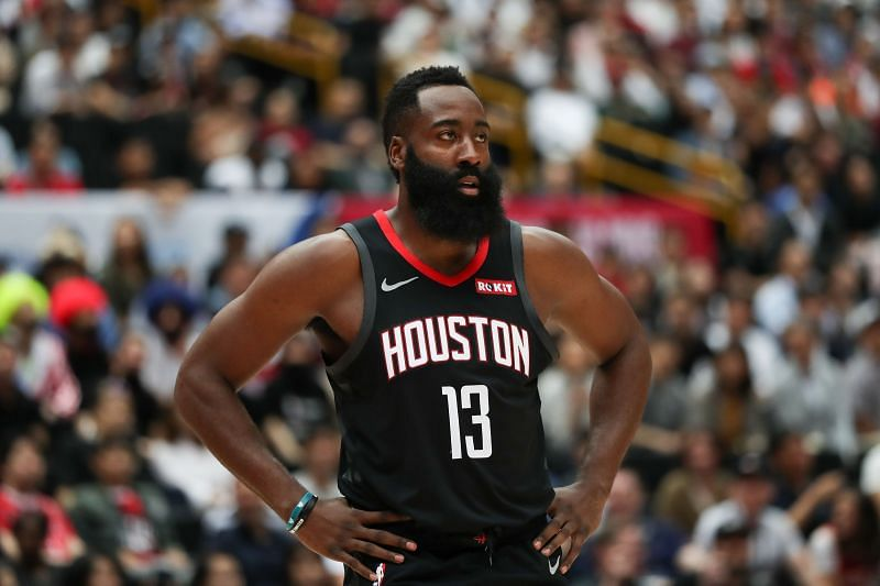 James Harden in action for the Houston Rockets